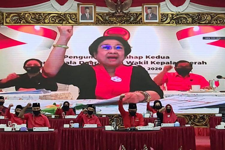 Pengumuman Paslon Pilkada 2020 Tahap II dari kantor DPP PDI-P, Jakarta, Jumat (17/7/2020).
