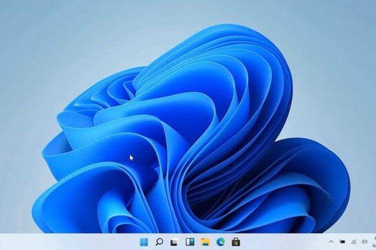 Tampilan desktop Windows 11.