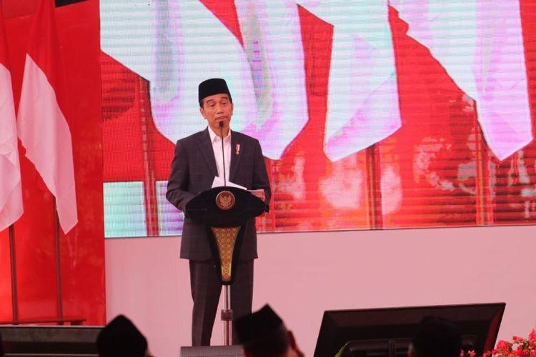 Presiden Joko Widodo membuka Yanwir Muhammadiyah di Bengkulu, Jumat (15/2/2019)