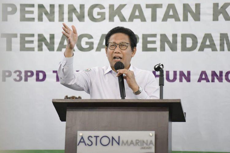 Gus Menteri saat membuka acara Training of Trainer (TOT) Peningkatan Kapasitas Tenaga Pendamping Profesional di Jakarta, Selasa (17/11/2020).
