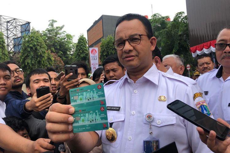 Gubernur DKI Jakarta Anies Baswedan di Gelanggang Remaja, Matraman, Jakarta Timur, Rabu (28/8/2019)