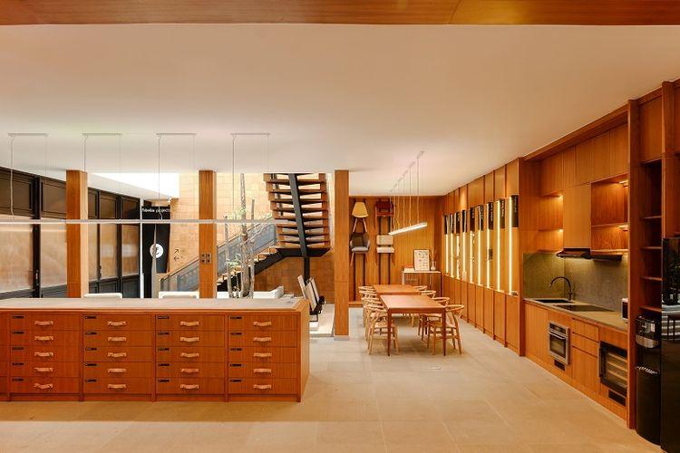 Ilustrasi desain interior dapur dan ruang makan dari Fabelio Project.