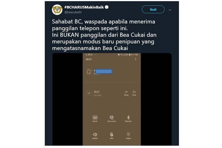 Waspadai Penipuan Via Telepon Yang Mengatasnamakan Bea Dan Cukai