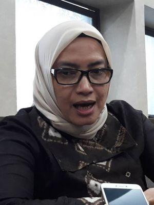 Komisioner KPU Evi Novida Ginting Manik di kantor KPU, Menteng, Jakarta Pusat.