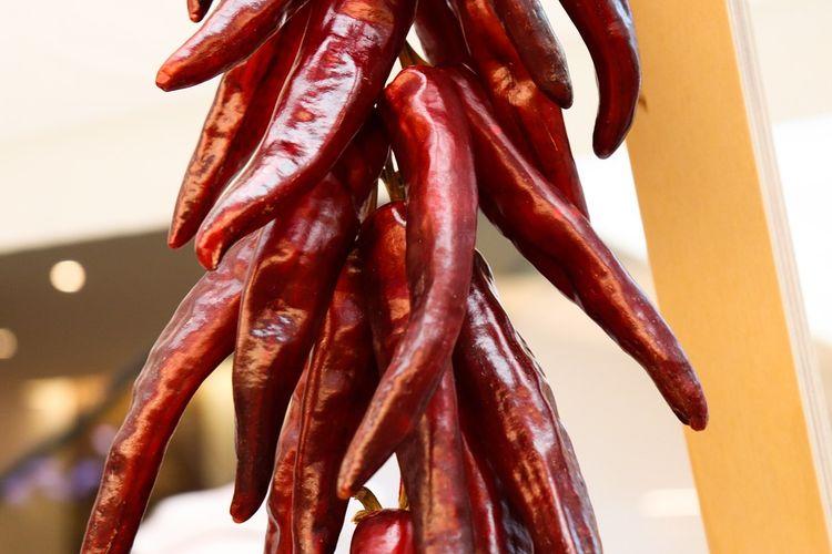 Ilustrasi cabai merah kering khas Korea yang dipakai untuk membuat gochujang.