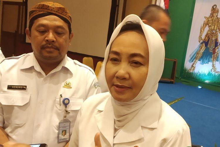 Kepala BMKG, Dwikorita Karnawati di Karanganyar, Jawa Tengah, Selasa (11/2/2020) malam.