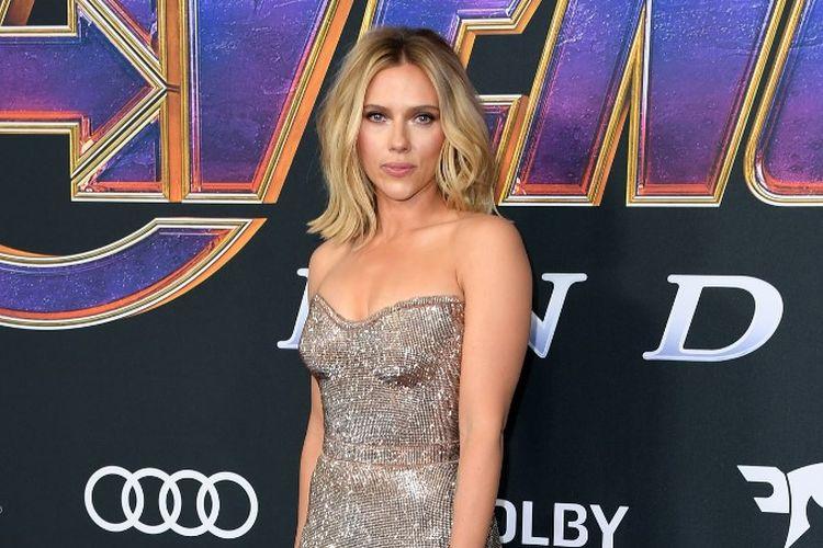 Aktris pemeran Black Widow, Scarlett Johansson, saat menghadiri world premiere film Avengers: Endgame di Los Angeles Convention Center, AS, pada 22 April 2019.