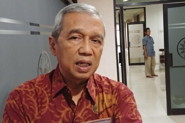Ketua PP Muhammadiyah Busyro Muqoddas, di Kantor PP Muhammadiyah, Jakarta, Kamis (12/4/2018).