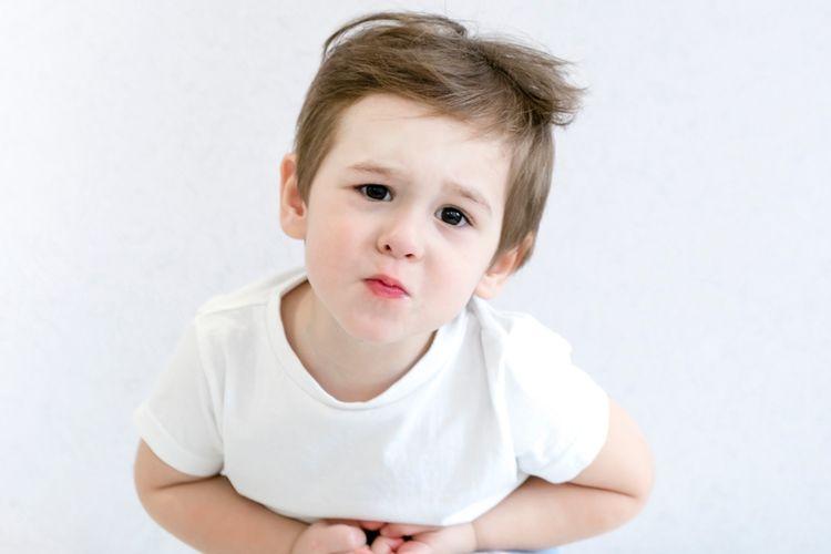 Ilustrasi anak diare, anak sakit perut