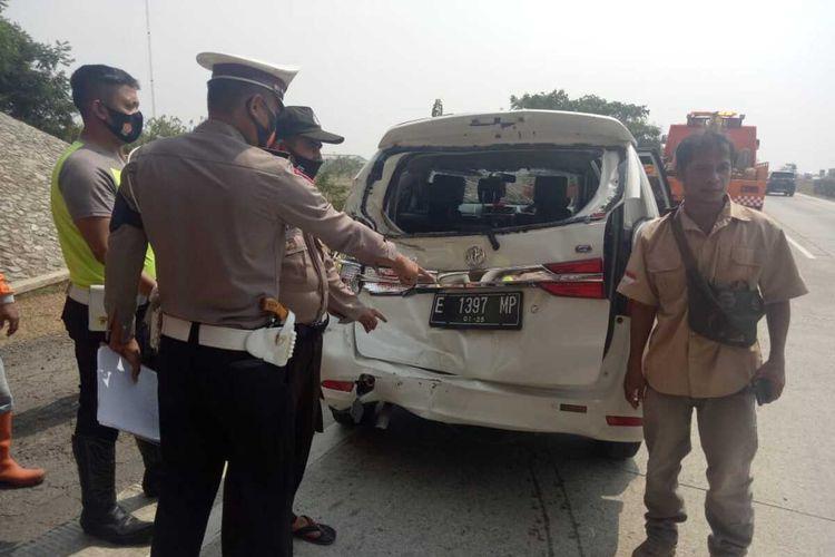 Satu orang tewas dalam kecalakaan beruntun di tol Cipali kilometer 84+800, Subang, Jumat (11/9/2020) sekitar pukul 12.35 WIB.