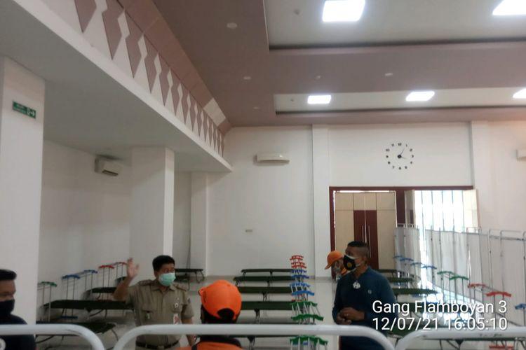 Gelanggang Olahraga (GOR) Matraman, Jakarta Timur, siap menampung pasien Covid-19 tanpa gejala (OTG) mulai Jumat (23/7/2021).