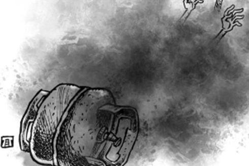 Tabung Gas Meledak, Seorang Pegawai Laundry di Bogor Alami Luka Bakar