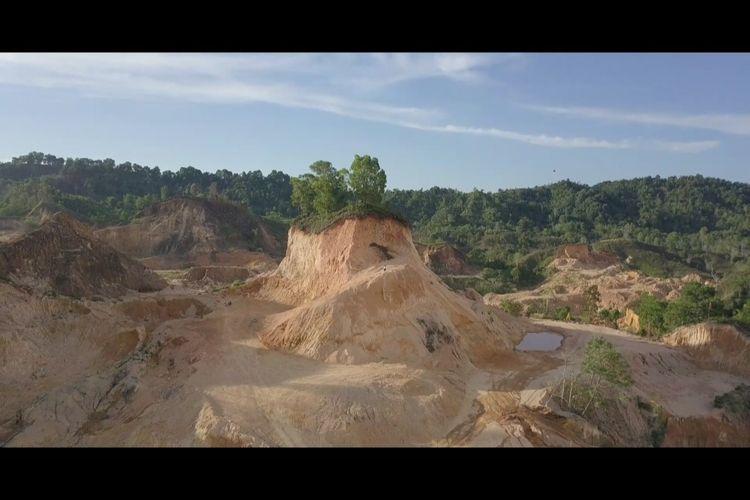 Hutan Lindung di Rusak Para penambang Galian C