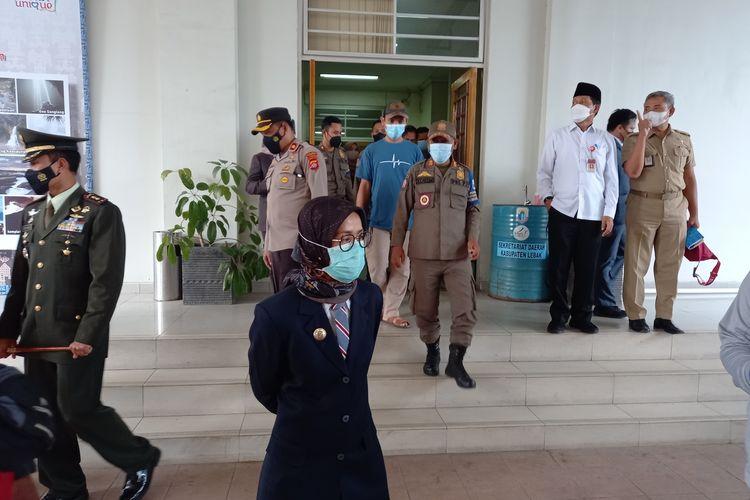 Bupati Lebak Iti Octavia Jayabaya di Pendopo Lebak, Selasa (22/6/2021)