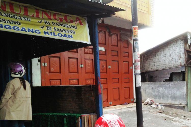 RM Sinulingga, salah satu rumah makan yang menjual menu daging anjing di Kota Medan, Sumatera Utara.