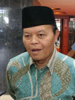 Wakil Ketua Majelis Syuro Partai Keadilan Sejahtera (PKS) Hidayat Nur Wahid saat ditemui di Kompleks Parlemen, Senayan, Jakarta, Rabu (15/8/2018).