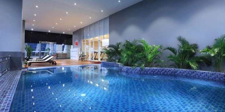 Kolam renang di Aston Kartika Grogol Hotel & Conference Center, Jalan Kyai Tapa no 101 Jakarta Barat.