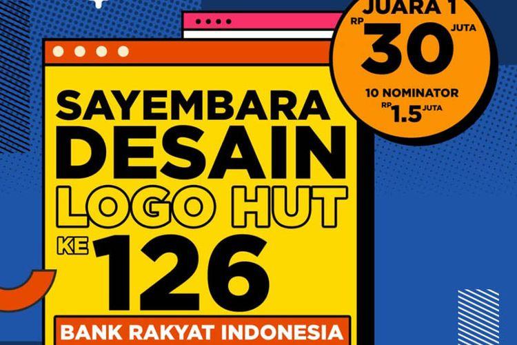 Poster sayembara desain logo HUT ke-126 BRI.