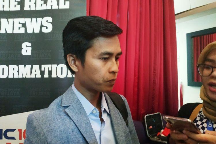 Direktur Eksekutif Indonesia Political Opinion (IPO) Dedi Kurnia Syah usai mengisi diskusi di Gondangdia, Jakarta Pusat, Sabtu (8/2/2020).