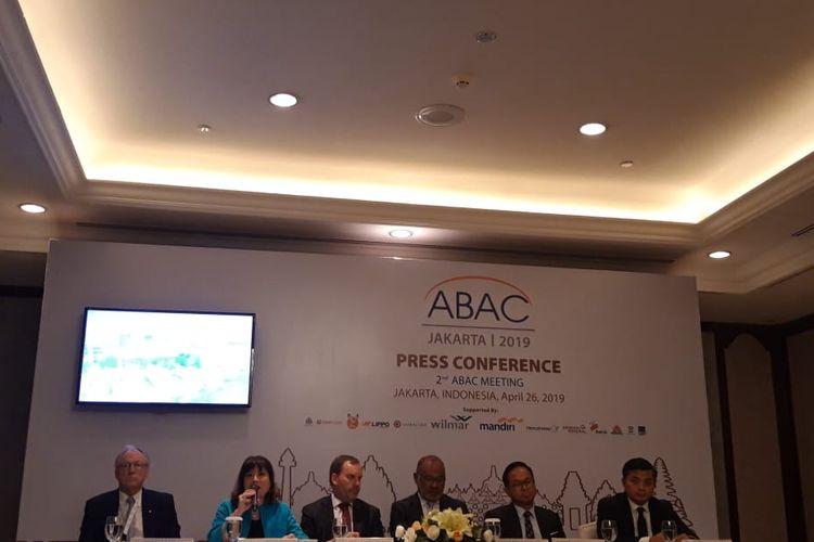 Konferensi pers ABAC 2019 di Jakarta, Jumat (26/4/2019).