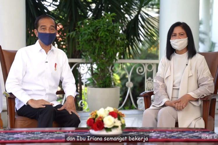 Presiden Joko Widodo dan Ibu Iriana memberikan pesan khusus di Hari Anak Nasional 2020.
