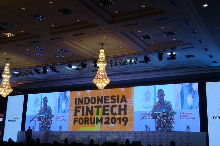 Menteri Koordinator Bidang Perekonomian Darmin Nasution dalam acara IFF 2019 di Jakarta, Rabu (4/9/2019).