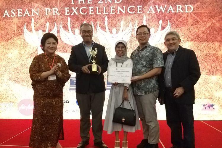 Kementerian Pariwisata (Kemenpar) mendapat Diamond Award kategori Asean Best PR Campaign dalam Asean International PR Excellence Awards di Kuching Malaysia, Senin (29/4/2019).