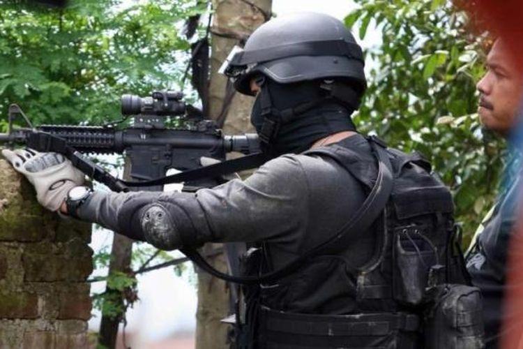 Ilustrasi Densus 88: Densus 88 mengepung teroris