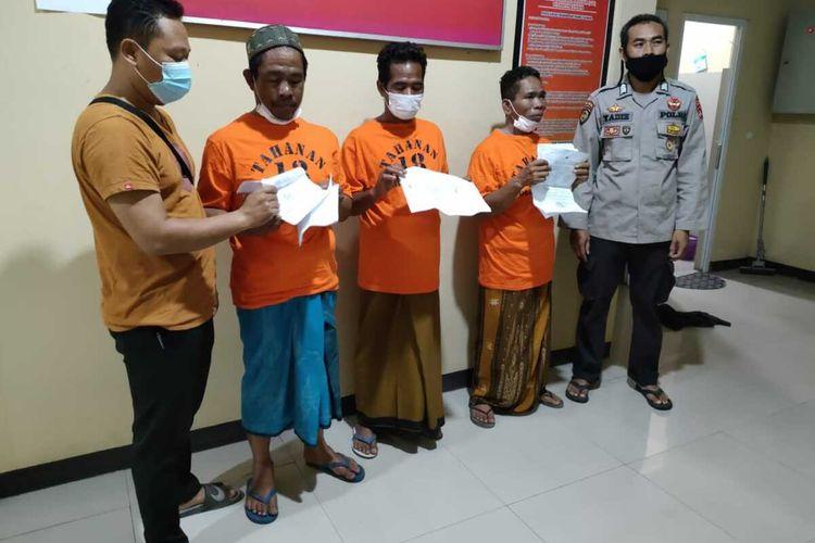 3 Pria ditahan karena melakukan ancaman terhadap pemilik lahan yang dimenangkan dari putusan MA