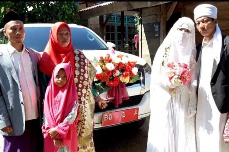 Bahagianya Dawam menikahi sang pujaan hati dengan segala fasilitas dari pemerintah Kota Bengkulu.