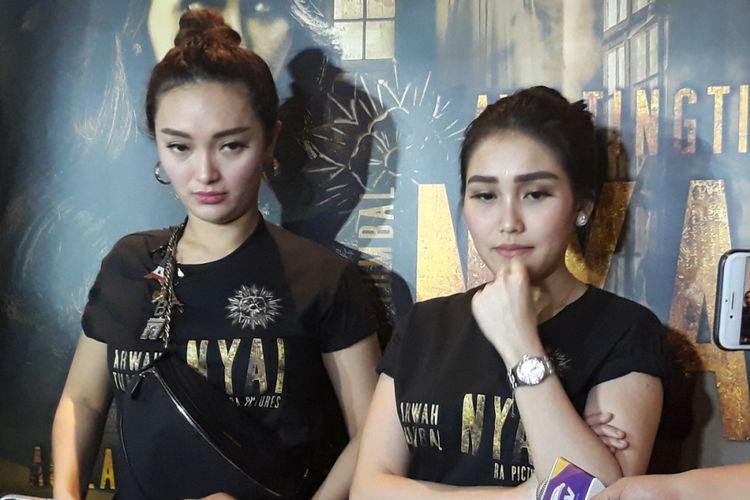 Ayu Ting Ting dan Zaskia Gotik dalam wawancara di XXI Plaza Depok, Jawa Barat, Minggu (25/11/2018).