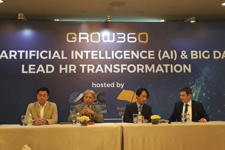 Seminar transformasi HR dengan Artificial Intelligence (AI) dan Big Data di Jakarta, Rabu (31/10/2018).