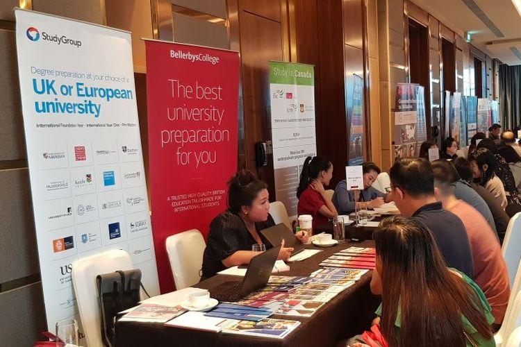 Global University Expo 2020 oleh Jack Study Abroad, InterContinental Pondok Indah, Jakarta, Minggu (9/2/2020).