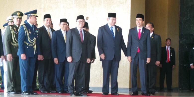 Detik-detik pelantikan Jokowi dan turunnya SBY, Senin (20/10/2014)