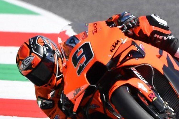 Danilo Petrucci saat berlaga pada sesi latihan MotoGP Italia 2021