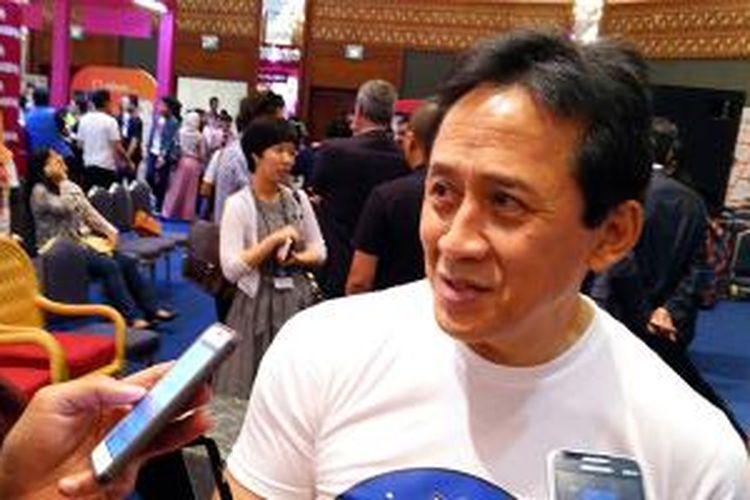 Triawan Munaf, Kepala Badan Ekonomi Kreatif, di acara Popcon Asia 2015 di JCC Senayan, Jakarta, Jumat (7/8/2015).