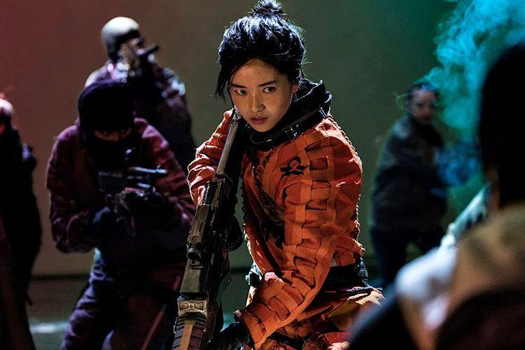Kim Tae-Ri dalam Space Sweepers (2021).