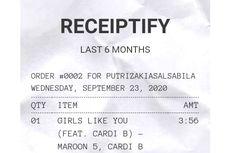 Cara Bikin Receiptify, Daftar Lagu yang Menyerupai Setruk Belanja