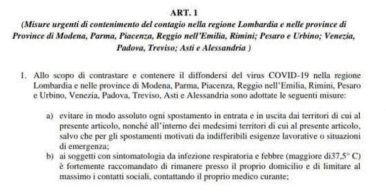 Kebijakan yang dikeluarkan pemerintah Italia terkait virus Corona