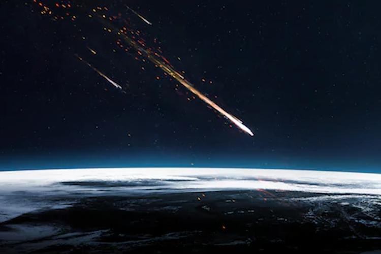 Ilustrasi meteorit