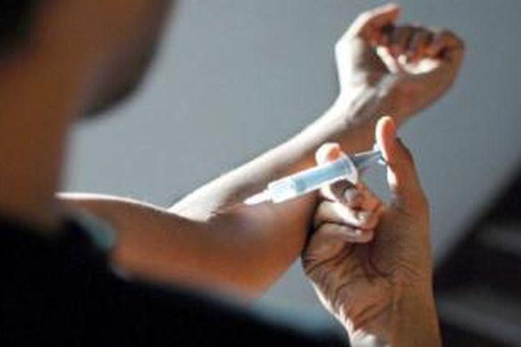 Ilustrasi kecanduan obat.