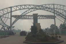 Warga Tiga Desa Dikerahkan Atasi Kebakaran Lahan di Kebun Raya Sriwijaya