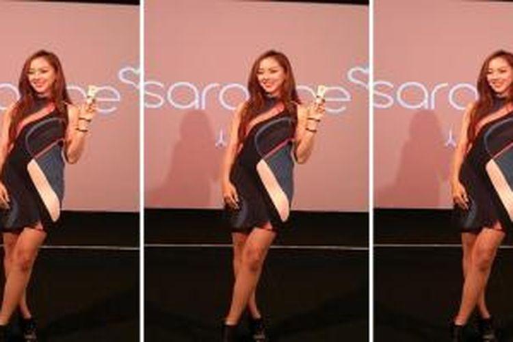Miss Korea 2009, Jooa Lee, menghadiri peluncuran produk BB Cream dari Sarange di XXI Studio, Plaza Senayan.