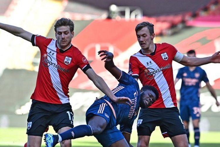 Laga Southampton vs Arsenal pada putaran keempat Piala FA di Stadion St Marys, Sabtu (23/1/2021) malam WIB.