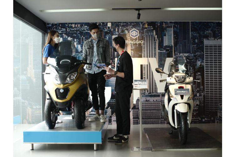 Gaia Moto Antasari menawarkan konsep premium untuk memanjakan pengunjung ketika memilih kendaraan impian.