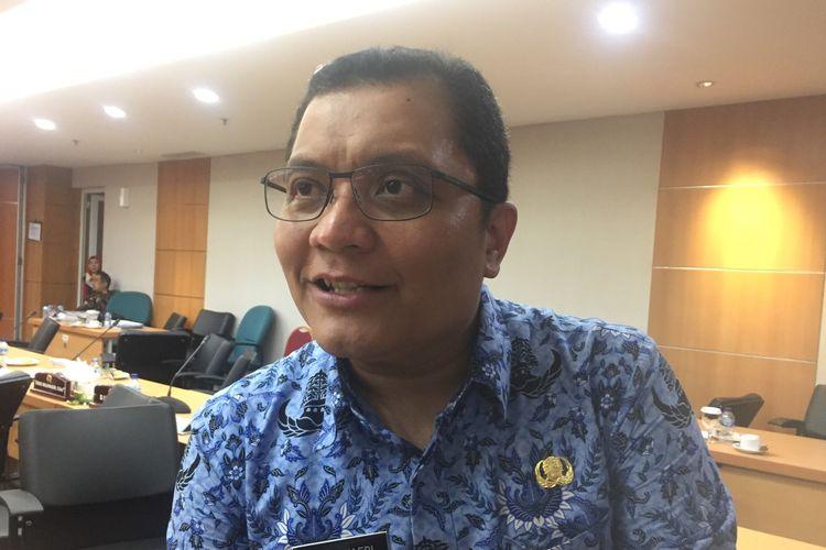Kepala Dinas Pariwisata dan Kebudayaan DKI Jakarta, Edy Junaedi di DPRD, Jakarta, Senin (28/10/2019).