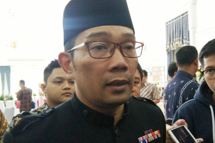 Gubernur Jawa Barat Ridwan Kamil saat ditemui di Gedung Pakuan, Jalan Otista, Kamis (12/9/2019).
