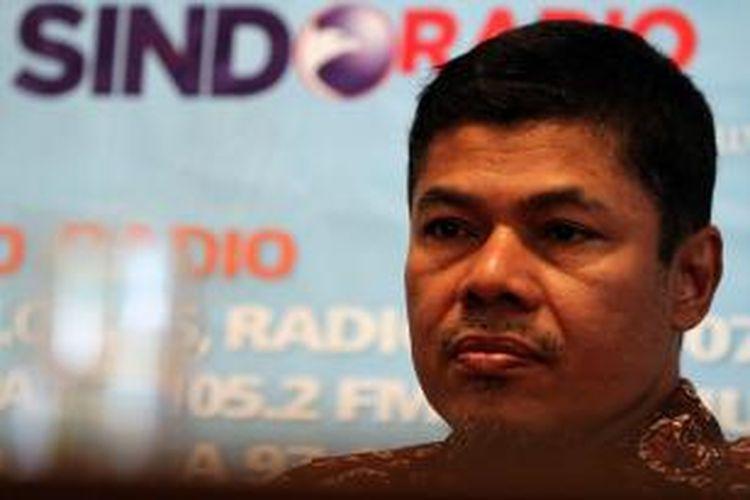 Kepala PPATK, M Yusuf, menjadi pembicara dalam acara diskusi polemik Mencuci Uang Koruptor, di Cikini, Jakarta, Sabtu (5/5/2012).