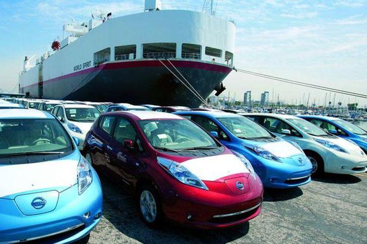 Kinerja ekspor mobil dari Jepang terus naik.
