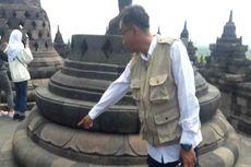 Ribuan Noda Permen Karet Menempel di Candi Borobudur